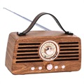 Creative Retro FM Radio Bluetooth Speaker - Brown