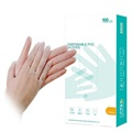 Disposable PVC Gloves - L - 100 Pcs. - Transparent