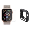 Hat Prince Apple Watch Series SE/6/5/4 Full Zaštitni Komplet - 44mm - Crni